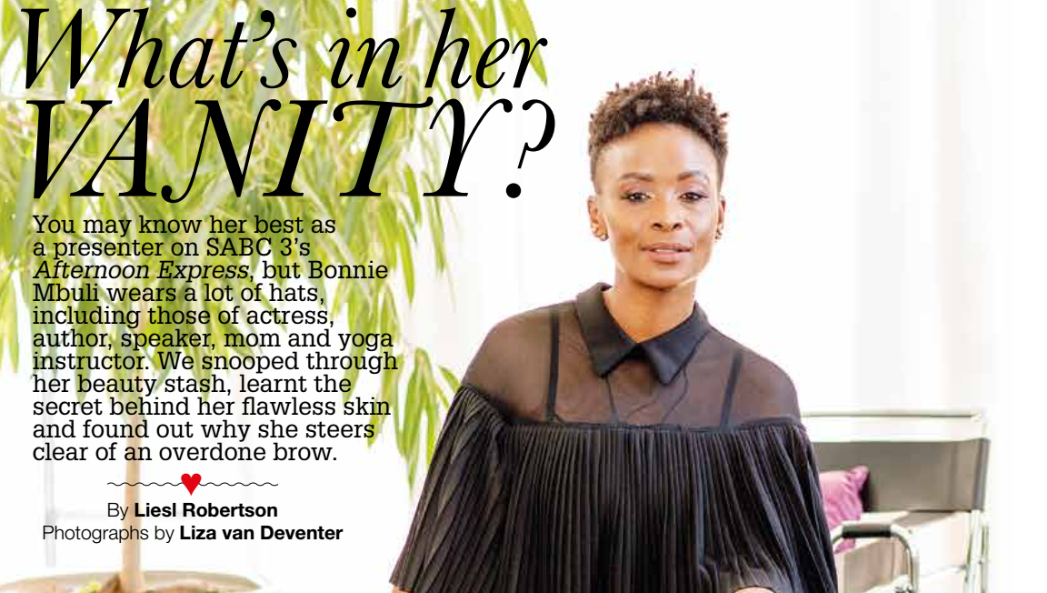 Fairlady Magazine Article: What's In Her Vanity?